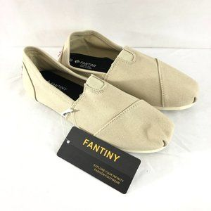 Fantiny Womens Espadrille Flats Slip On Canvas 7